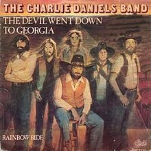"Charlie Daniels Band's ""The Devil Went Down to Georgia"" single cover"