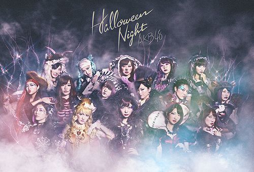 "AKB48 promoting ""Halloween Night"""