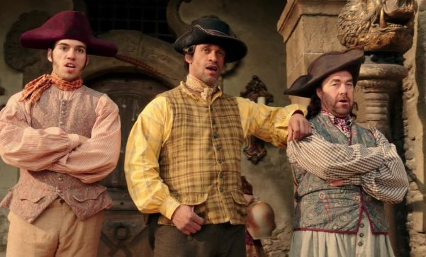 Tom, Dick, and Stanley in the live action remake of `Beauty and the Beast`
