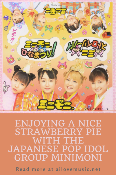Enjoying a Nice Strawberry Pie with the Japanese Pop Idol Group Minimon