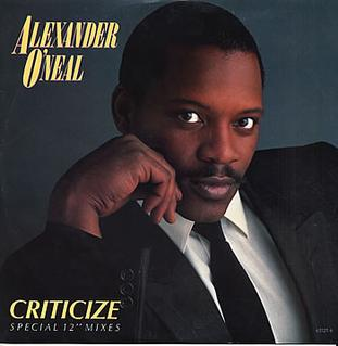 "Cover art for ""Criticize"" by Alexander O'Neal"