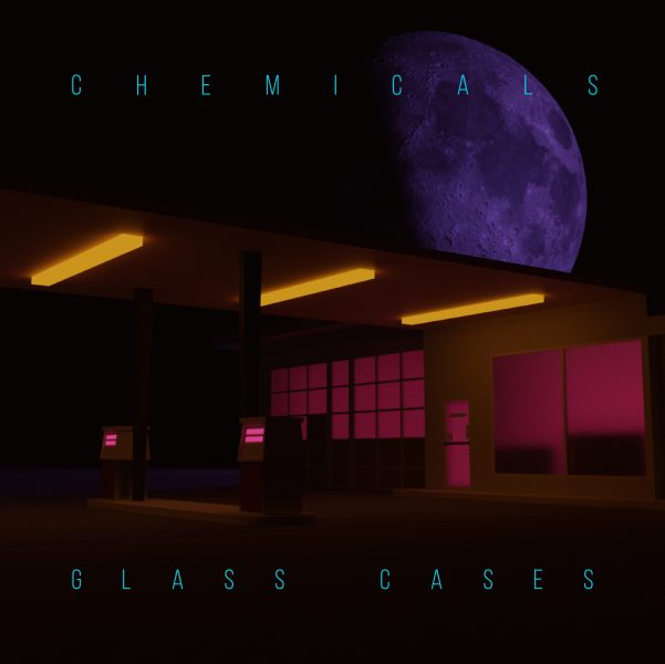 "Cover art for Glass Cases' newest single ""chemicals"""